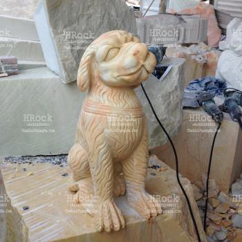 Chó Đá Cẩm Thạch Vàng