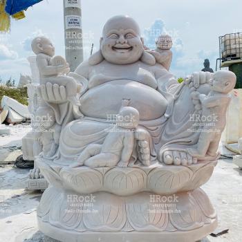 Phật Di Lặc Ngũ Phúc Đá Trắng