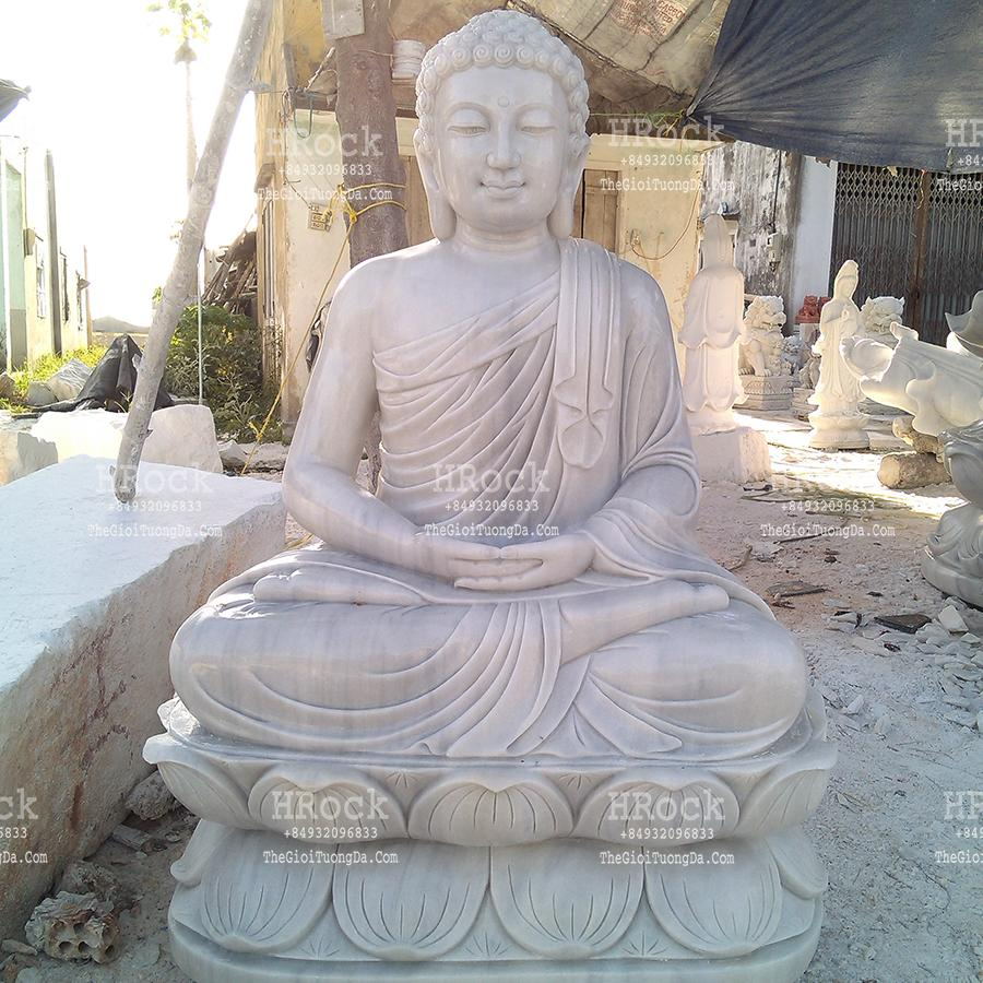 Tượng Phật Thích Ca Ngồi Đài Sen
