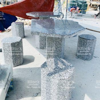 Bàn Ghế Sân Vườn Đá Granite