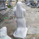 Tượng Thánh Nữ Bernadette Đá Trắng