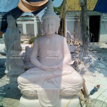 Tượng Phật Thích Ca Thái Đá Trắng